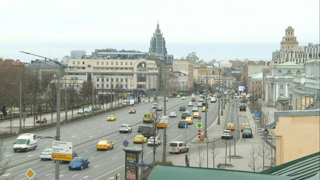 IMAGESA few cars still drive on Moscow's circular ring road following the adoption of strict isolation rules decreed by Mayor Sergei Sobyanin in a bid to curb the spread of novel coronavirus. The new restrictions apply to all the city's residents, regardl