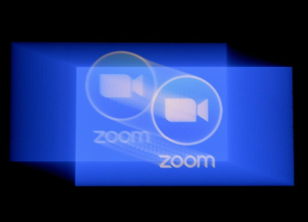 In this photo illustration a Zoom App logo is displayed on a smartphone on March 30, 2020 in Arlington, Virginia