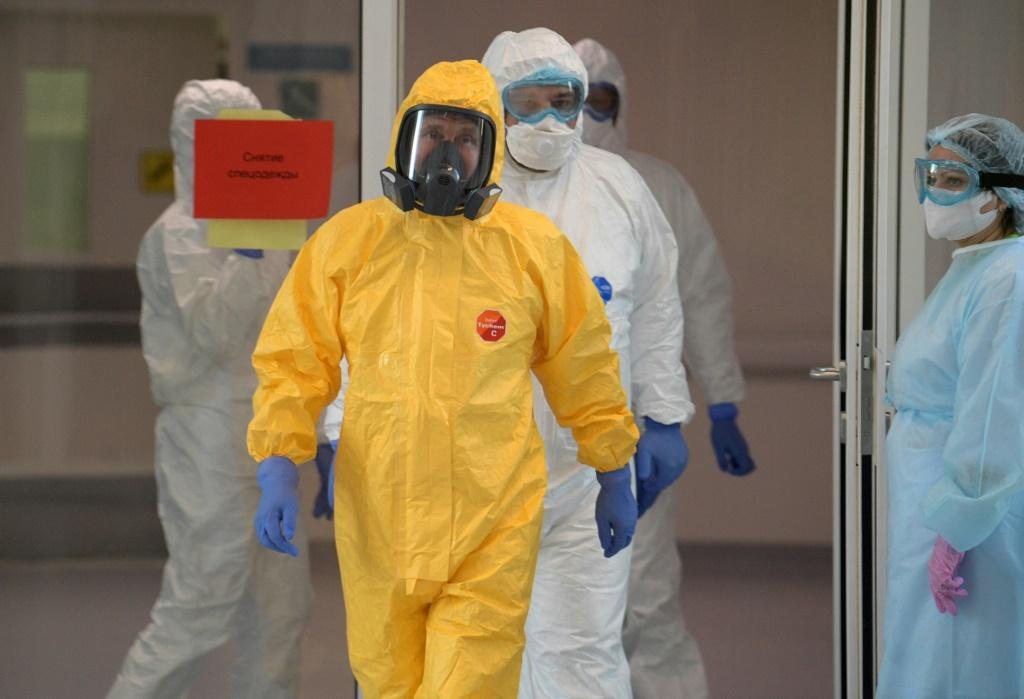 Russian President Vladimir Putin wore a hazmat suit during a visit to a hospital where COVID-19 patients were being treated