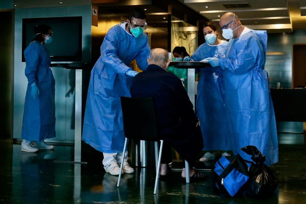 Hotels across Spain have been converted into medical care centres to free up beds in hospitals flooded with COVID-19 cases