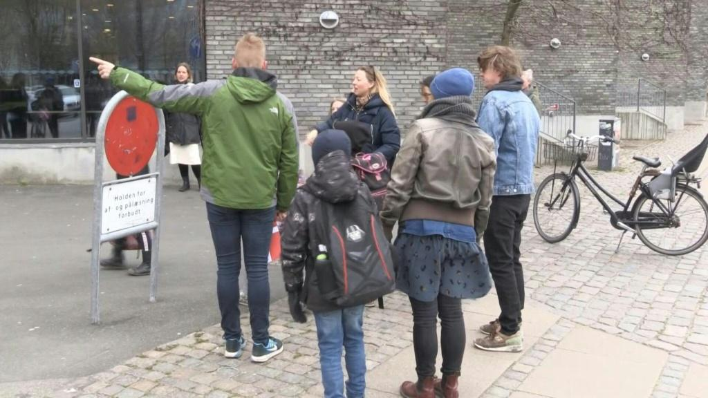 IMAGES Schools in Denmark reopen after a month-long closure over the novel coronavirus, becoming the first country in Europe to do so. However classes are only resuming in about half of Denmark's municipalities and in about 35 percent of Copenhagen's scho