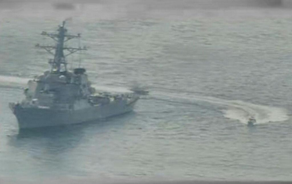 The United States has accused Iranian vessels of harassing its ships in the Gulf