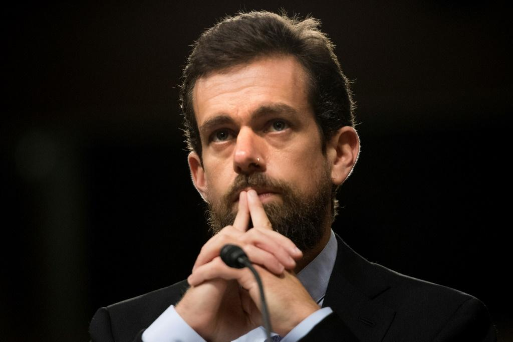 """Twitter CEO Jack Dorsey, pictured here in 2018, said the social platform has been a valuable resource to people during the pandemic in serving """"the global conversation"""