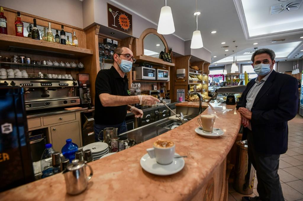 Many people remain wary of returning to cafes and restaurants