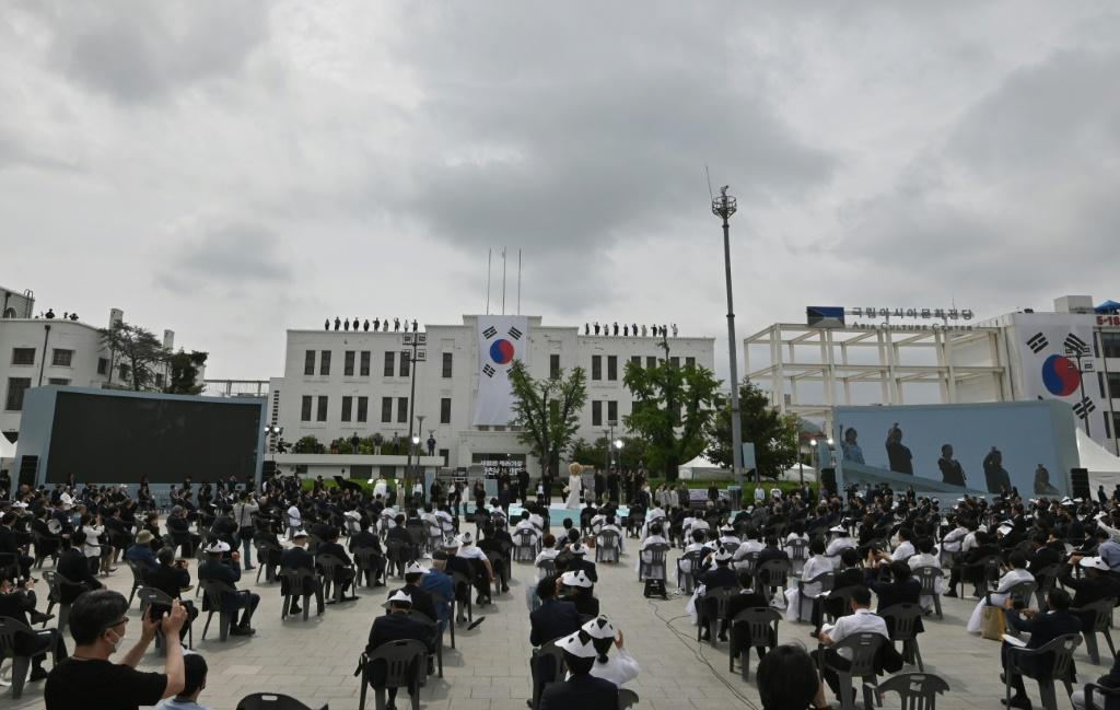 South Koreans attend a ceremony marking the 40th anniversary of the pro-democracy Gwangju Uprising