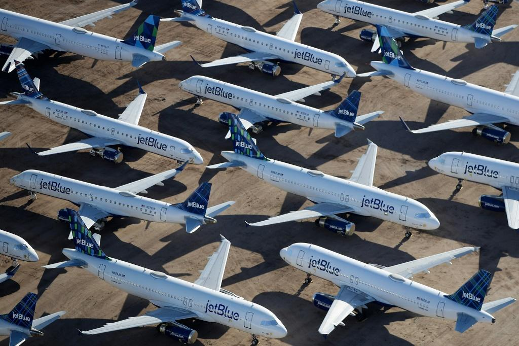 Airlines have parked most of their aircraft during the coronavirus crisis