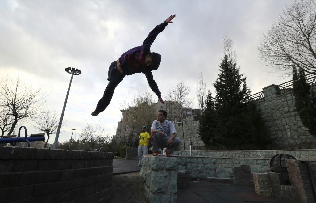 Parkour, an extreme sport born in France in the 1990s blending acrobatics and gymnastics, has a following in neighbourhoods of west Tehran, where high-rise residential buildings are closely connected