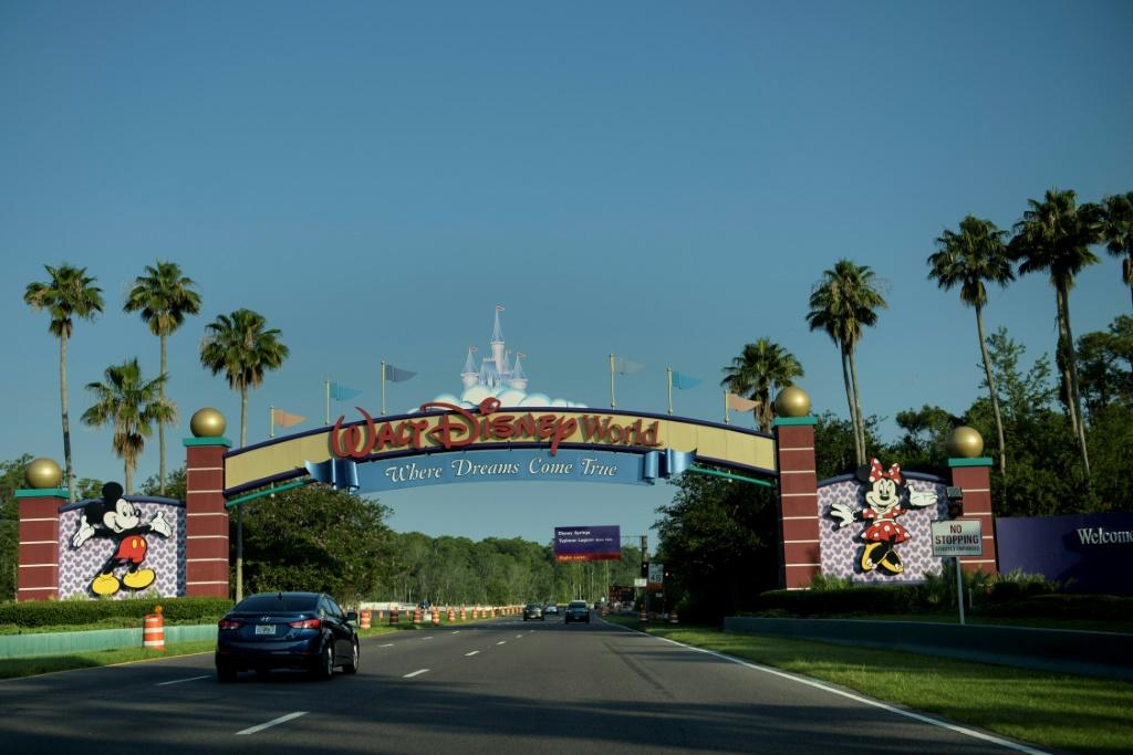 The Walt Disney World theme park in Orlando, Florida (pictured June 2016) has opened its shopping strip as part of Florida's gradual reopening after weeks of coronavirus lockdown
