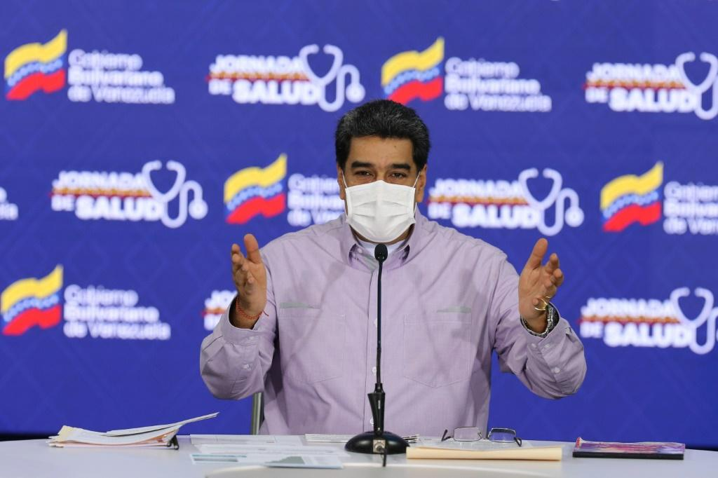 Venezuela's President Nicolas Maduro (pictured May 14, 2020) has accused his US counterpart Donald Trump of being directly responsible for a failed maritime raid, which Maduro claimed was a plot to assassinate him