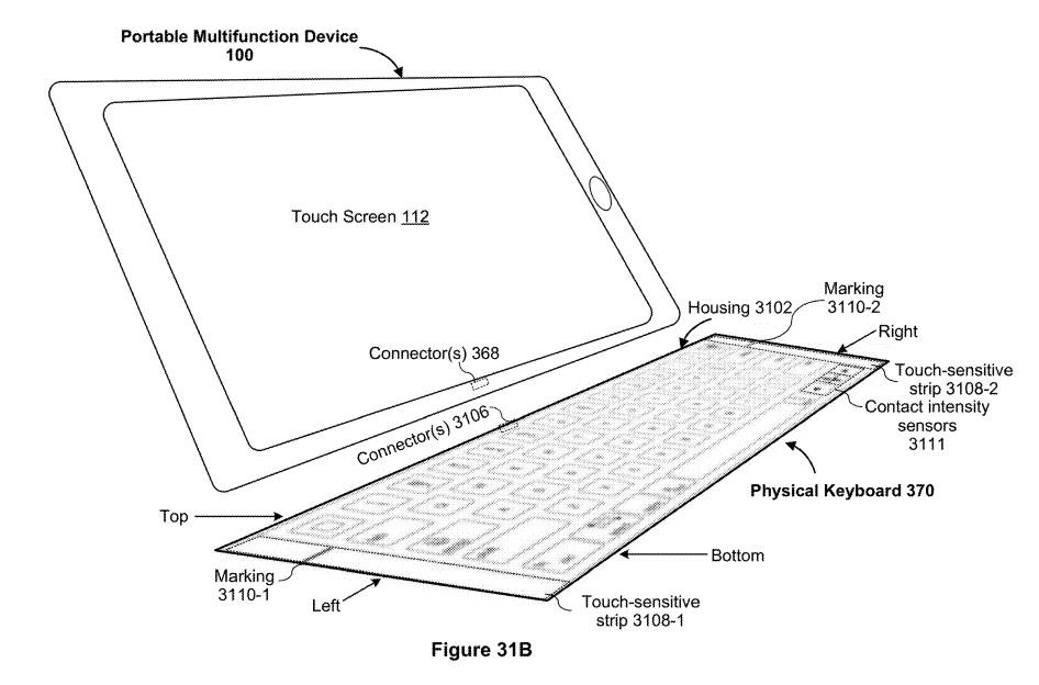 The new Keyboard as described in the patent