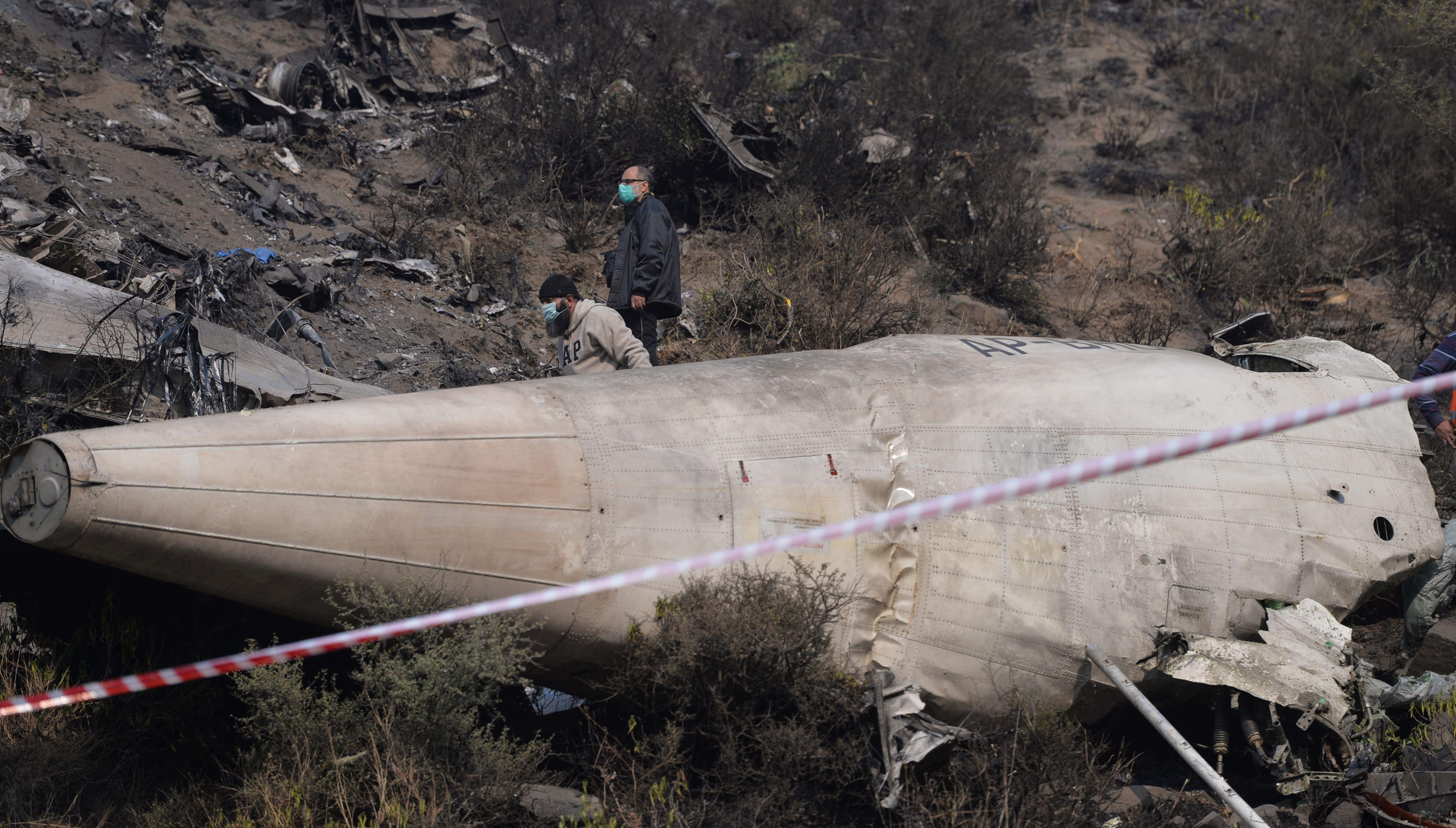 Pakistan International Airlines passenger flight crashes in Karachi