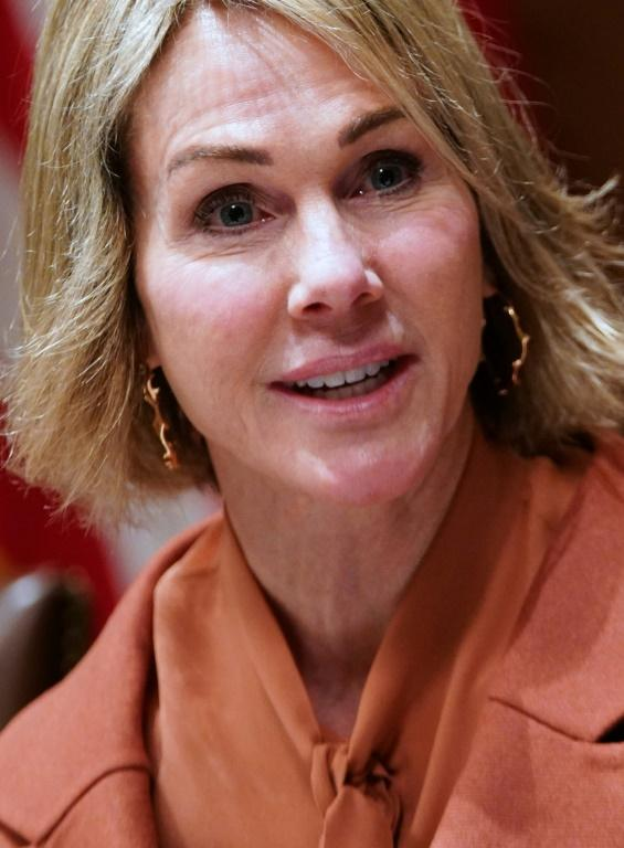 US Representative to the UN Kelly Craft, seen here in December 2019, has pressed for discussion on China's planned security law for Hong Kong