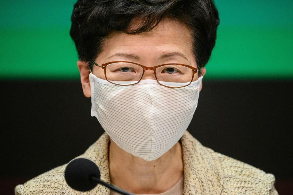 Hong Kong's Chief Executive Carrie Lam accused the United States of 'double standards' in its response to violent protests