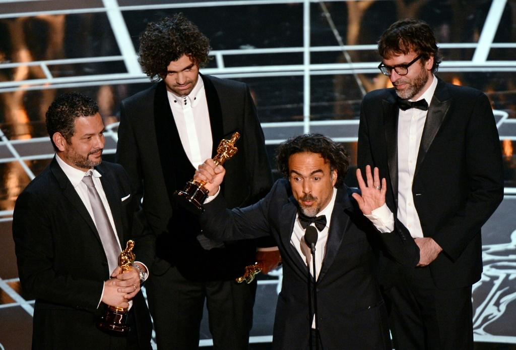 "Armando Bo (2nd from L) won an Oscar for co-writing 2014's black comedy ""Birdman,"" notably with the film's director Alejandro Gonzalez Iñárritu (C)"