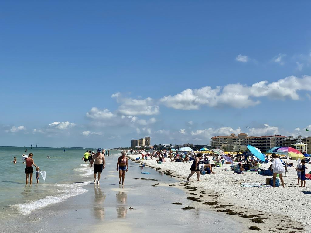 A beachfront near Tampa, the home of an Iranian-American doctor allowed to leave prison