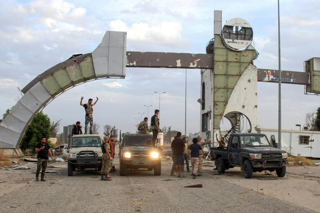 Fighters loyal to the UN-recognized Libyan Government of National Accord recapture Tripoli International Airport after clashes with strongman Khalifa Haftar