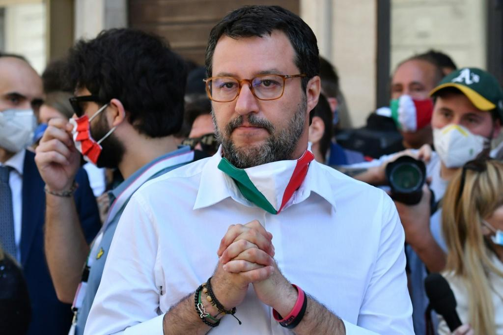 Matteo Salvini, the leader of the far-right League party, is seeing a weakening of support among Italians