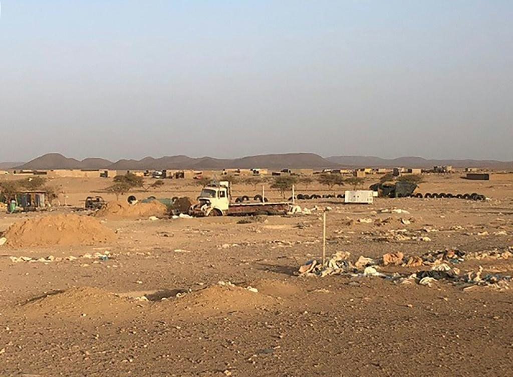A picture taken on May 28, 2020, shows the village of Talhandak, some 80 kms northwest of Tessalit in northern Mali, where the leader of Al-Qaeda in the Islamic Maghreb Abdelmalek Droukdel is reported to have been killed by French forces