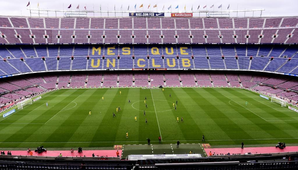 Barcelona played Las Palmas in an empty Camp Nou in October 2017.