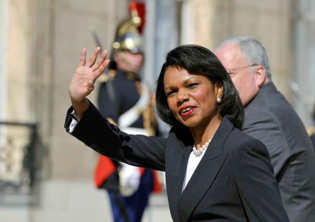 Condoleeza Rice, former US secretary of state, pictured at the Elysee Palace in Paris in June 2008