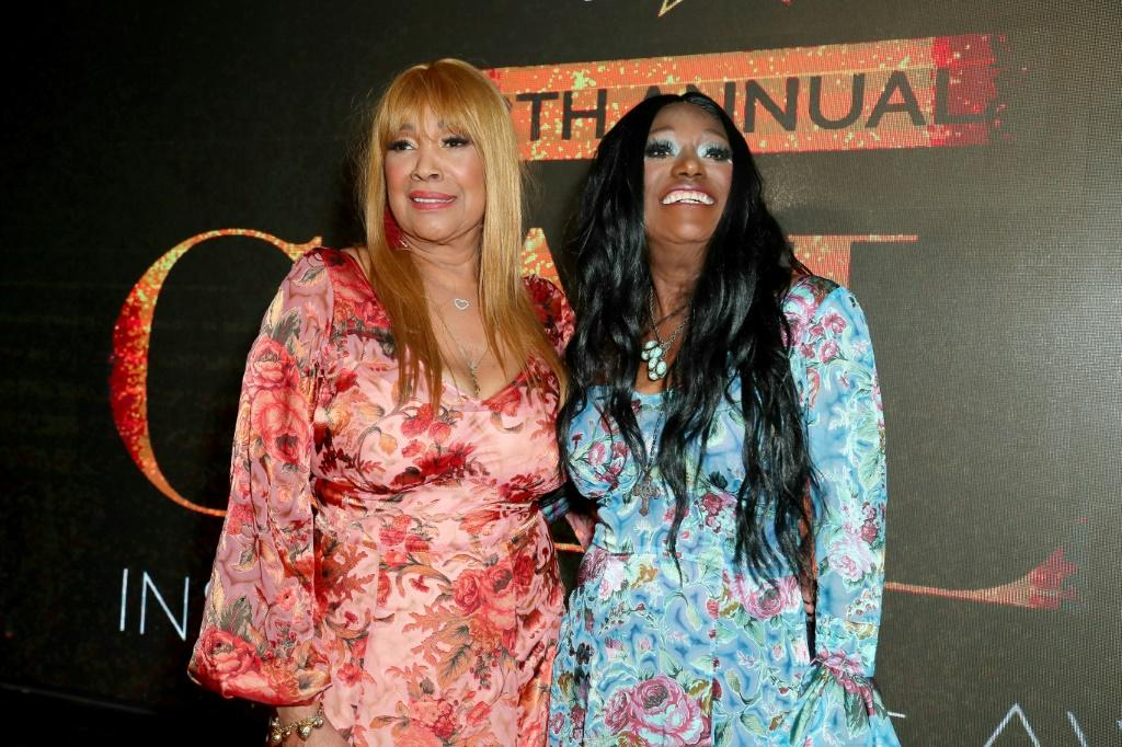 """The song """"Fairytale,"""" co-written by Bonnie Pointer (R, pictured April 2019) and her sister Anita (L), won a Grammy in 1975 for Best Country Duo or Group"""