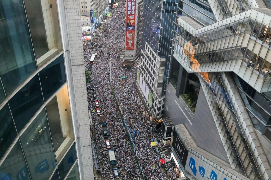 Huge crowds flooded Hong Kong's streets a year ago, kicking off seven months of unrest