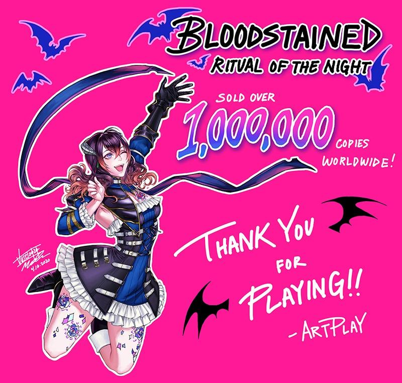 Bloodstained 1M thanks