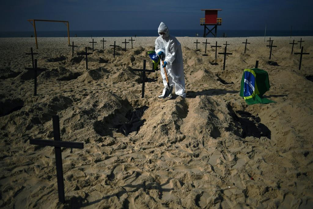 Brazil has the highest number of virus deaths in Latin America, and third highest in the world