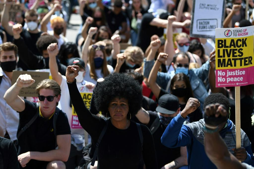 Britain has seen a wave of protests prompted by the death during a US police arrest of George Floyd, an unarmed African-American, which has triggered outrage around the world