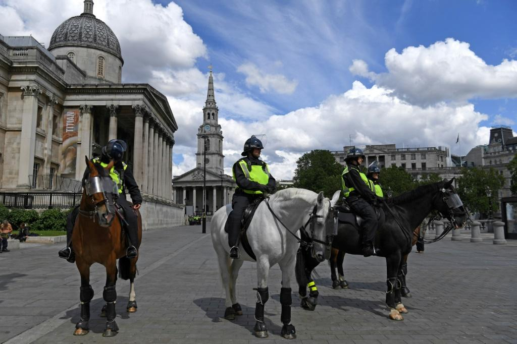 London's Metropolitan Police said those who ignored the pleas not to protest must comply with conditions imposed, including keeping to separate designated areas and dispersing early