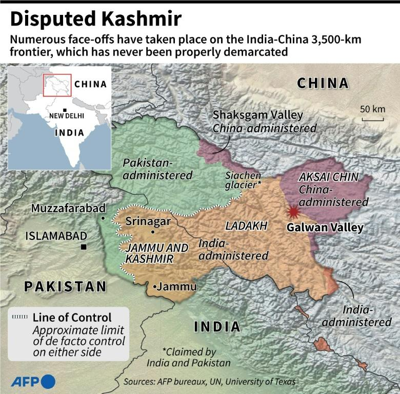 The border claims by India, China and Pakistan in and around the Galwan valley are complex