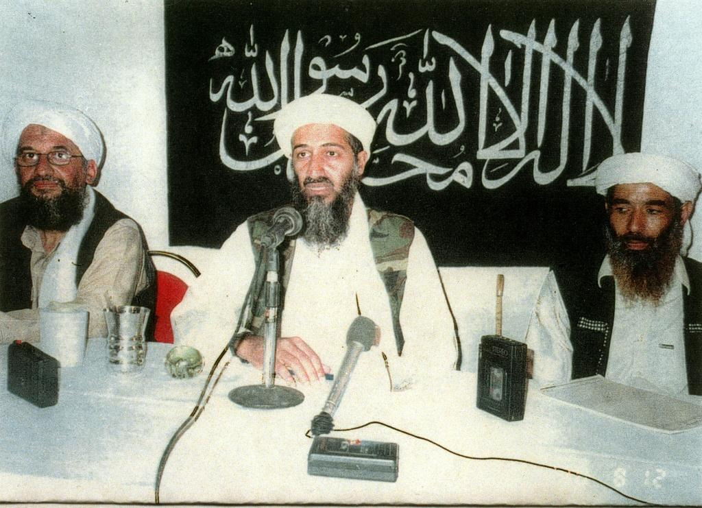 Osama Bin Laden (C), whose Al-Qaeda network claimed responsibility for the Nairobi and Dar es Salaam attacks, lived in Sudan for several years under president Omar al-Bashir