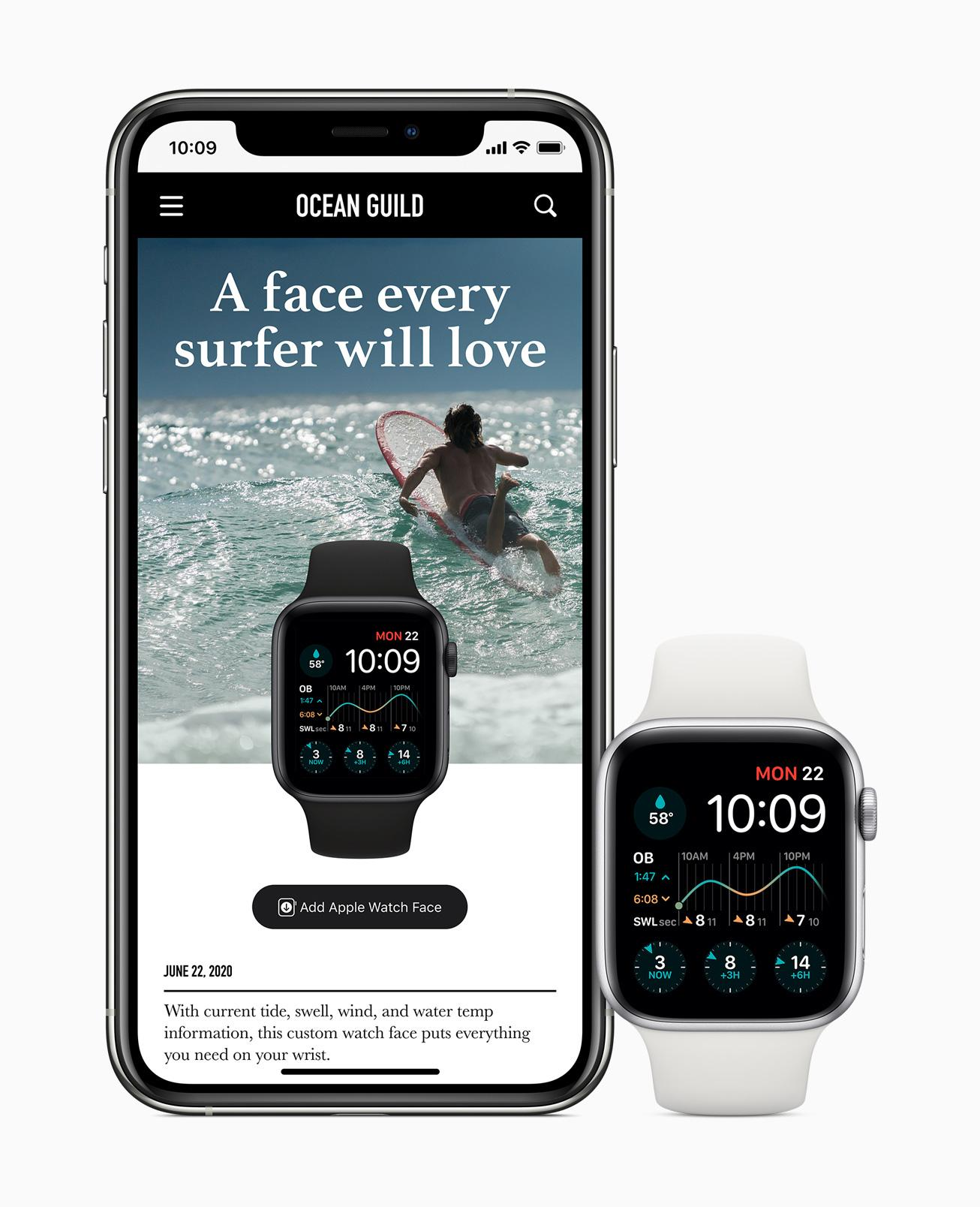 watchOS 7 face discovery