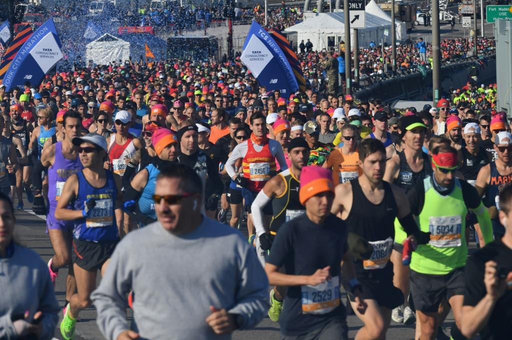 Long-distance runners such as these in the 2019 New York City Marathon will not be able to compete in New York or Berlin this year after both cities announced Wednesday their marathons were canceled for 2020 due to coronavirus pandemic issues