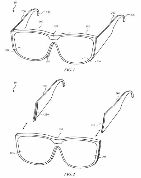 Apple smartglasses modular