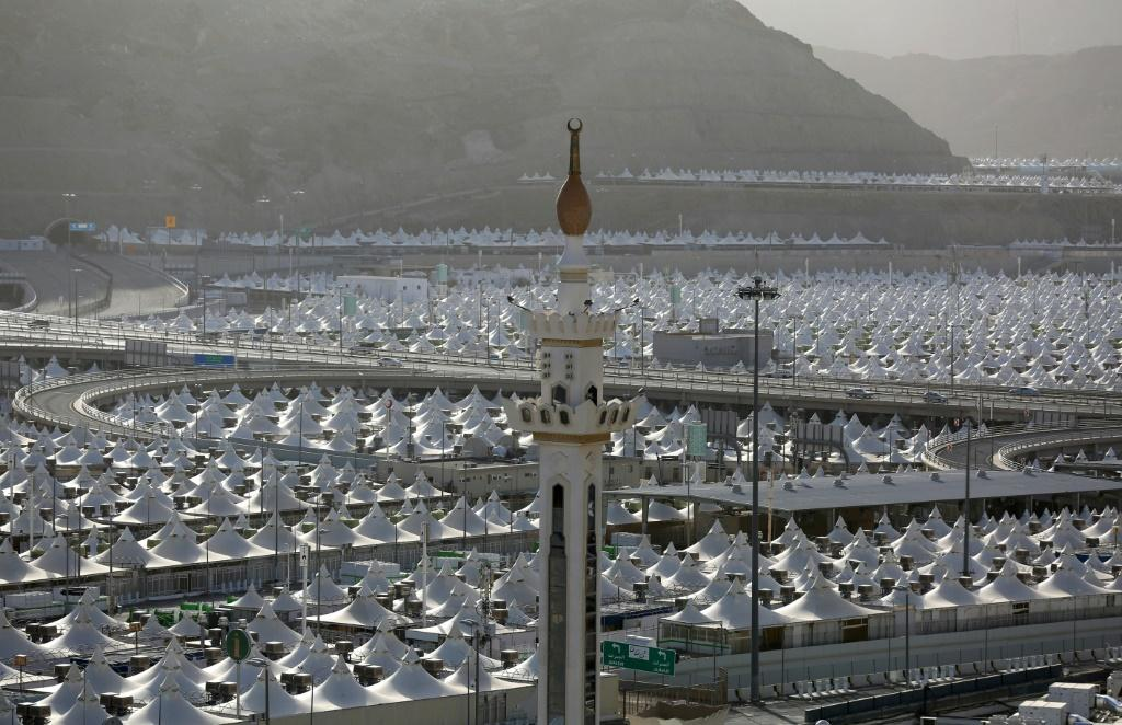 Mecca would usually be teeming with pilgrims ahead of the hajj, but the tent cities that usually house them are deserted