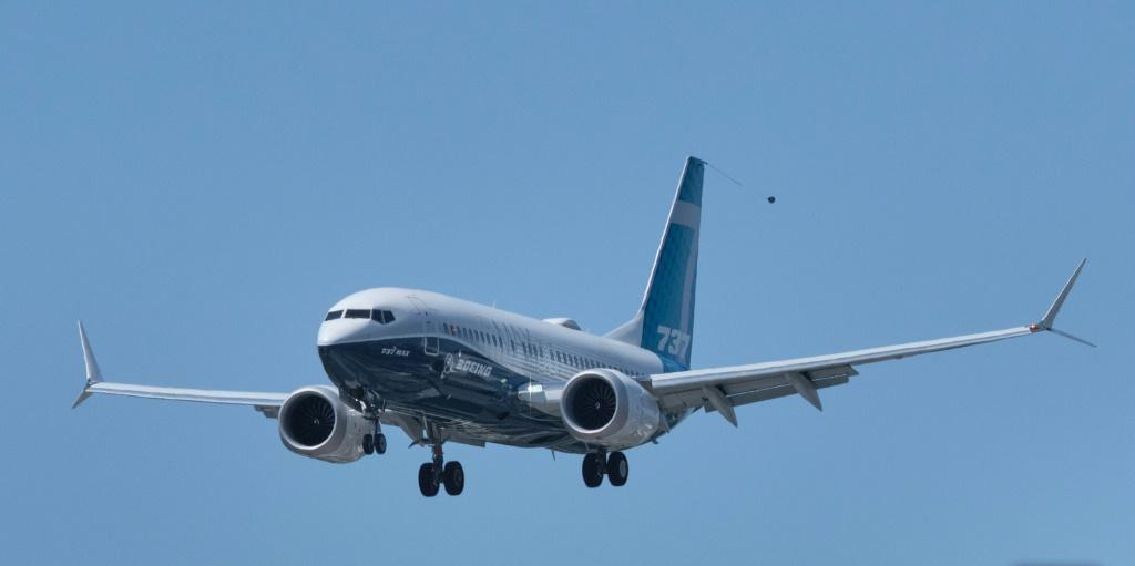 A Boeing 737 MAX aircraft landing earlier this week following a FAA recertification flight