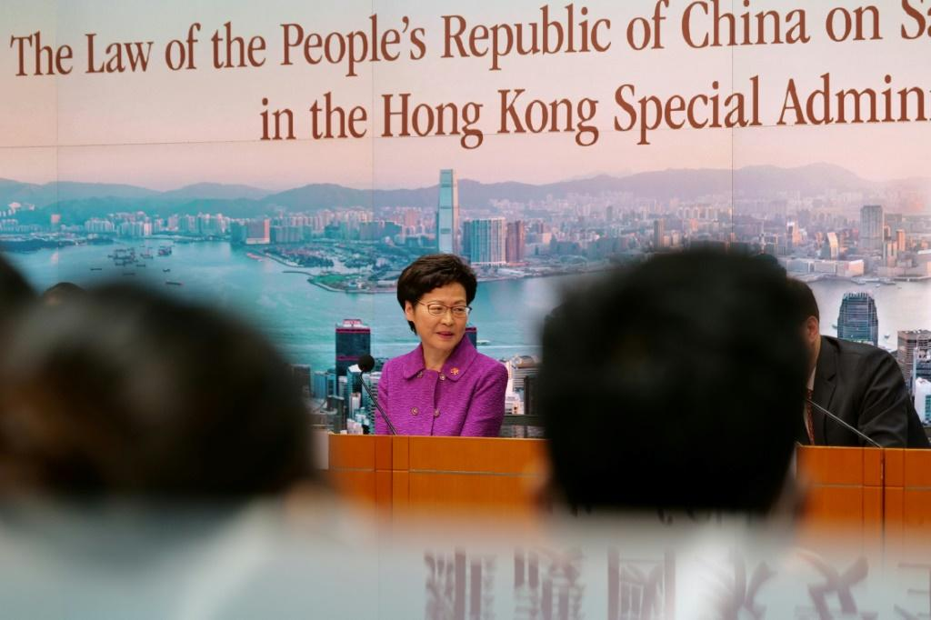 "Hong Kong leader Carrie Lam hailed the legislation as the ""most important development"" since the city's return to Beijing's rule in 1997"