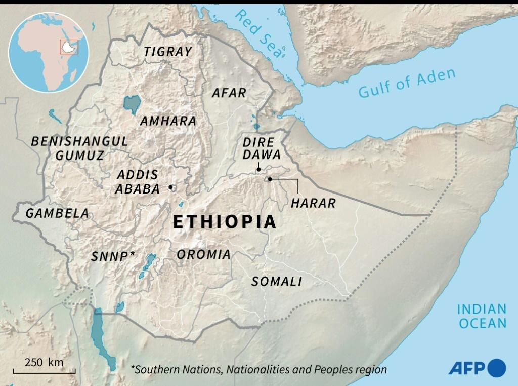 Map of Ethiopia and its regions