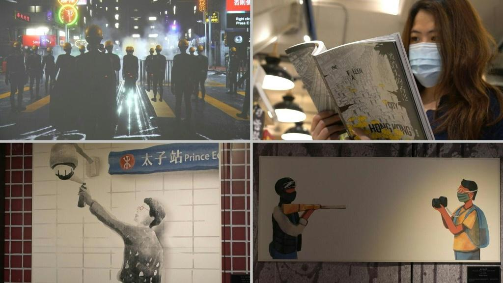 An exhibition marking the first anniversary of the Hong Kong pro-democracy protests is held at Taiwan Comic Base in Taipei. It features more than 100 artworks from artists in Hong Kong, Taiwan, South Korea and Australia. The recent imposition of a swee