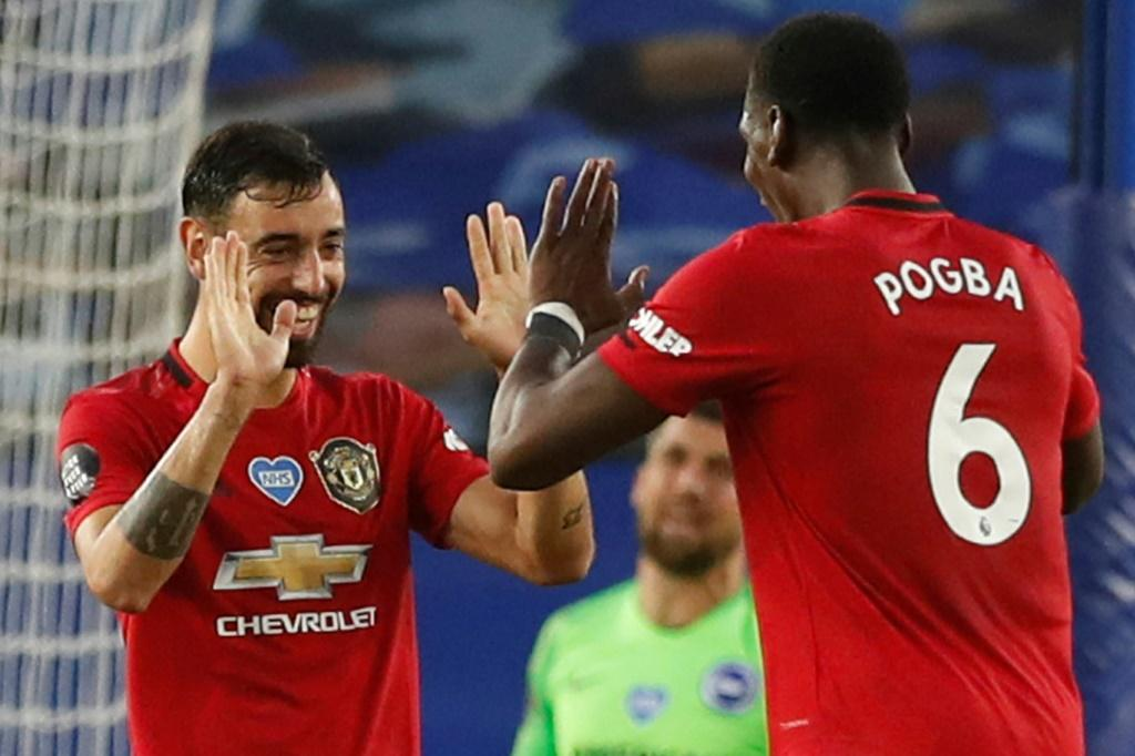 Dynamic duo: Bruno Fernandes and Paul Pogba have instantly formed a potent midfield partnership for Manchester United