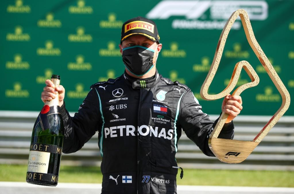 Opening win: Mercedes' driver Valtteri Bottas after his victory last weekend