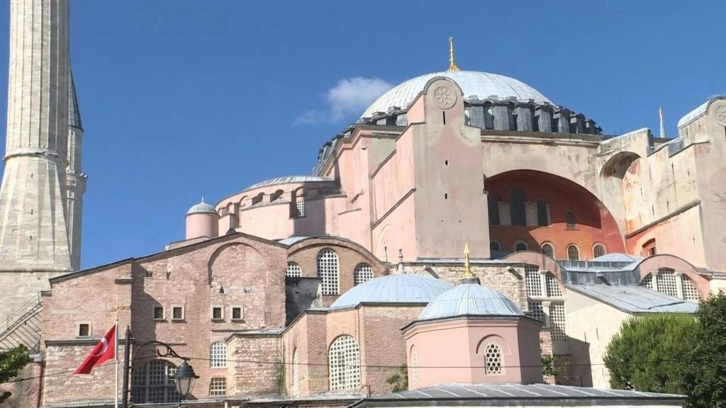 Celebrations as Turkey announces iconic Hagia Sophia will be reopened as mosque