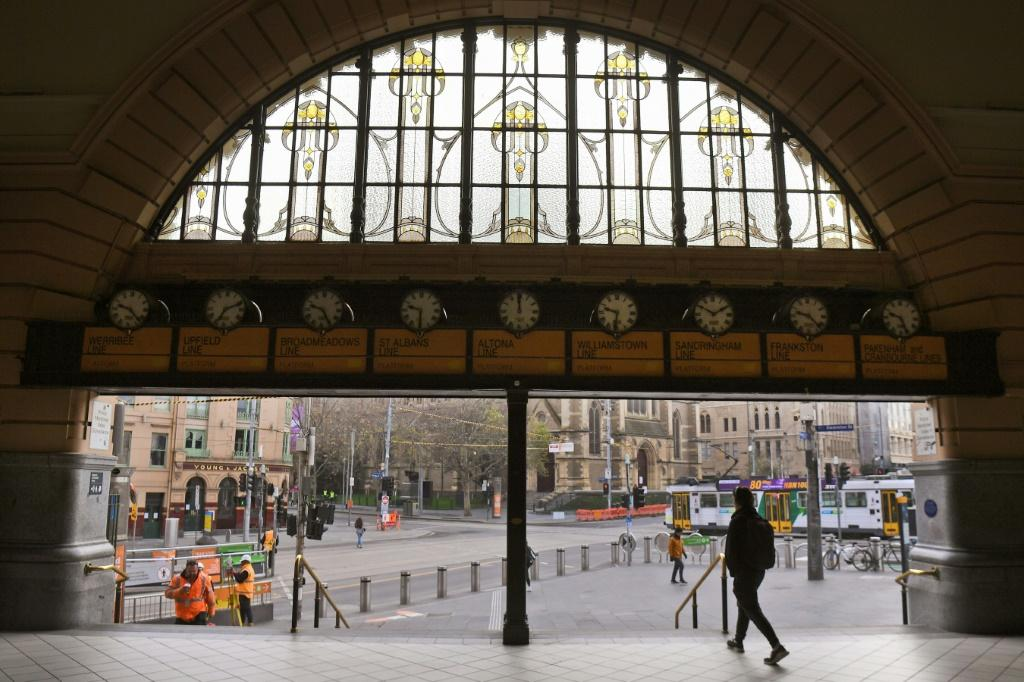 Usually-bustling parts of Melbourne are deserted amid a lockdown in the city