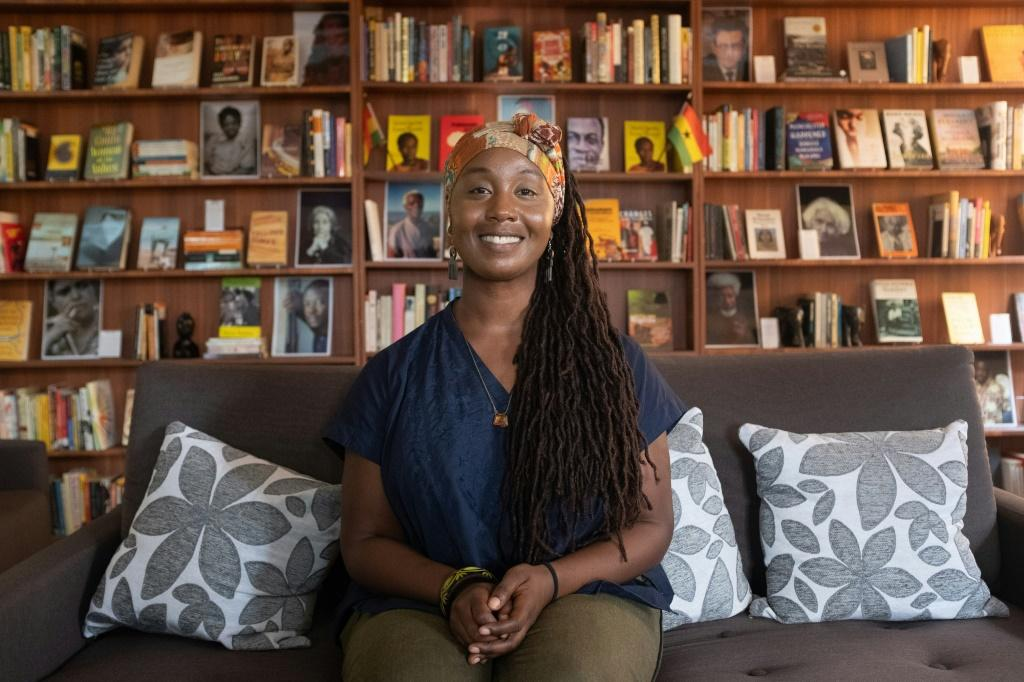 Sylvia Arthur founded the library in 2017