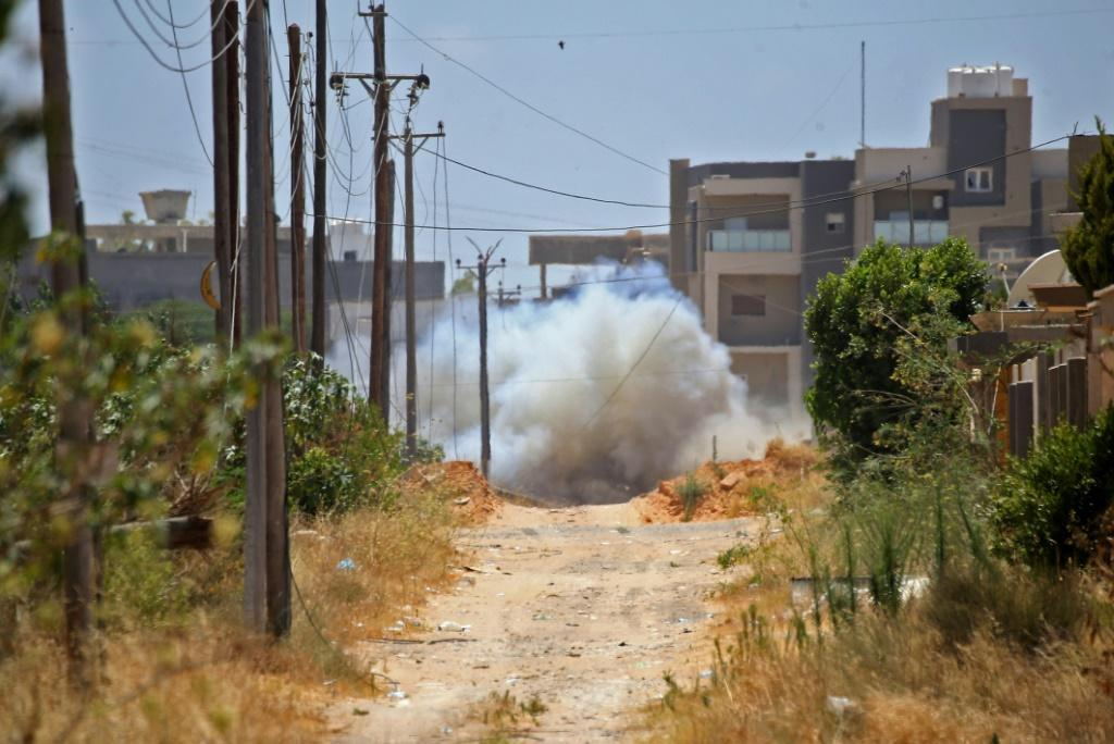 Turkey carries out demining in the Salah al-Din area south of Tripoli in June 2020, amid allegations that a Russian group laid mines