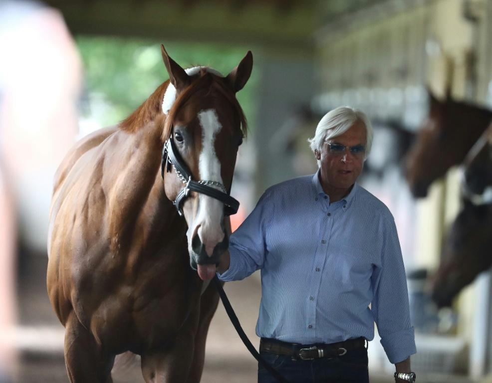 US racing legend Bob Baffert, seen here with 2018 Triple Crown winner Justify, is facing a 15-day suspension after two of his horses failed drug tests at a meeting in Arkansas in May