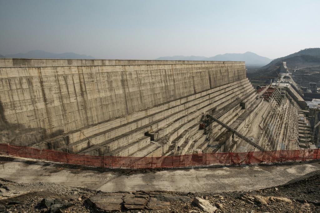 Many Ethiopians view the mega-dam, seen here while under construction last December, as a source of national pride