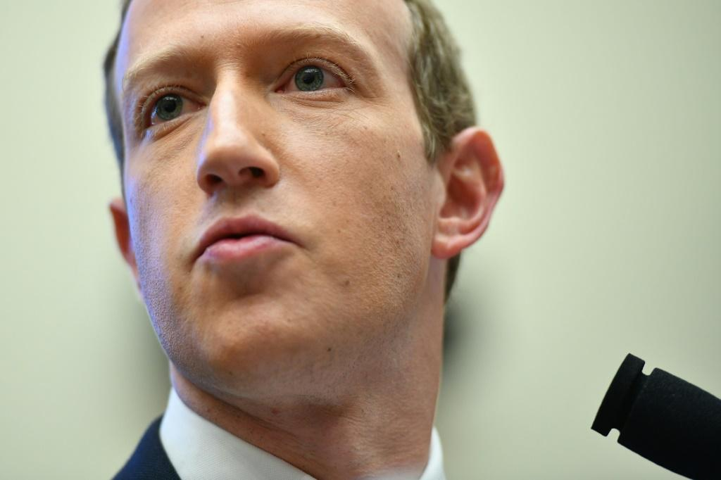 Facebook chief Mark Zuckerberg, shown in this 2019 file photo, will tell a major antitrust hearing July 29, 2020, that the internet giant would not have succeeded without US laws fostering competition -- but that the rules of the internet now need updatin