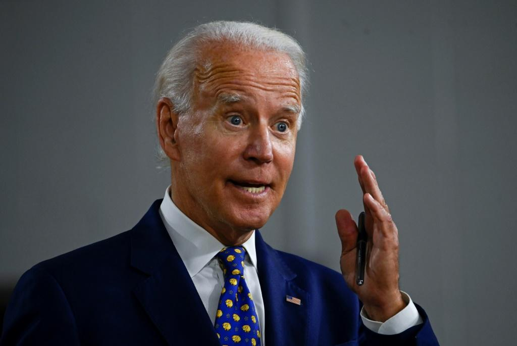 Democratic presidential candidate and former vice president Joe Biden blamed President Donald Trump for the severe economic crisis